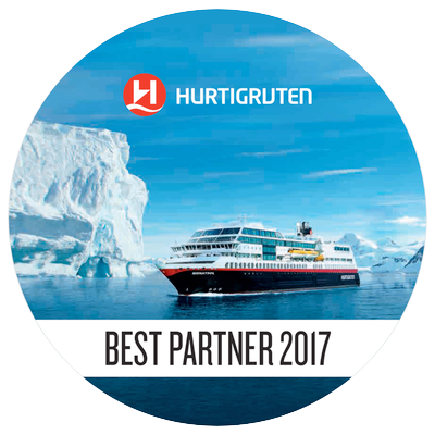 Hurtigruten Bestpartner 2017 Logo