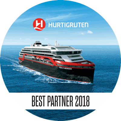 Hurtigruten Bestpartner 2018 Logo