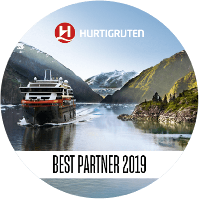 Hurtigruten Bestpartner 2019 Logo