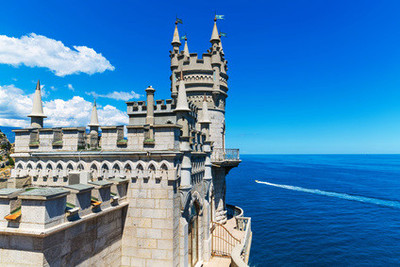 Jalta - Swallow's Nest Castle in Yalta
