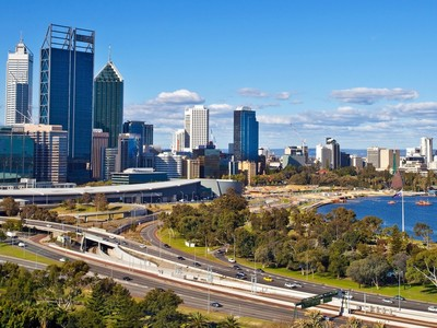 Perth - Skyline von Perth in Australien