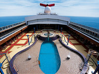 Carnival Miracle - Deck mit Pool