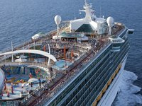 Freedom of the Seas - Schiffsdeck aus der Luft