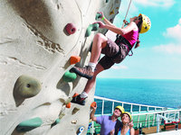 Grandeur of the Seas - Rock wall