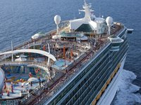 Independence of the Seas - Pooldeck aus der Luft