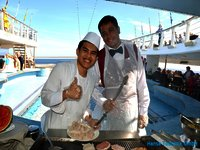 MS Ocean Majesty - Crew Grillstation