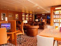 MS Prinsendam - Exploration Cafe & Bibliothek