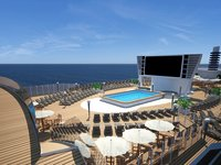 MSC Seaside - Pool Deck