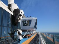 Ovation of the Seas - Pandas an Deck ©Royal Caribbean International