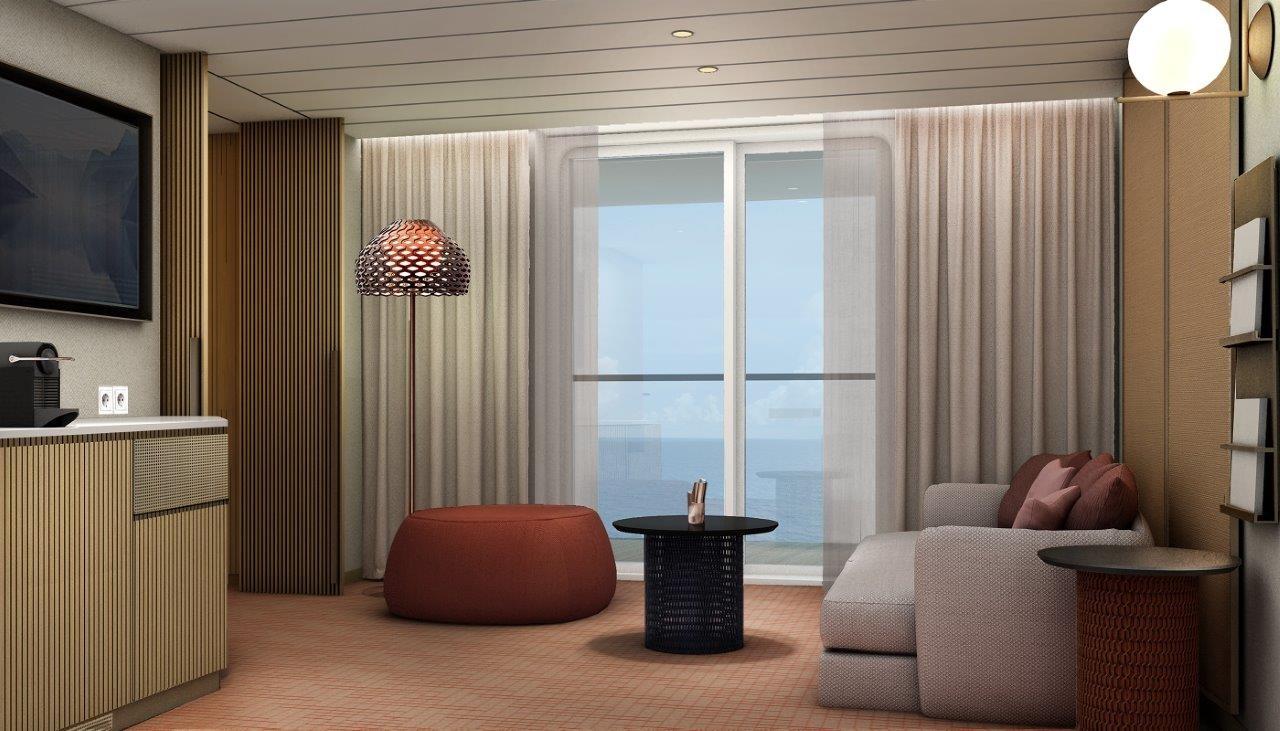 Neue Mein Schiff 1   Horizont Suite   Kabinenfoto Suite