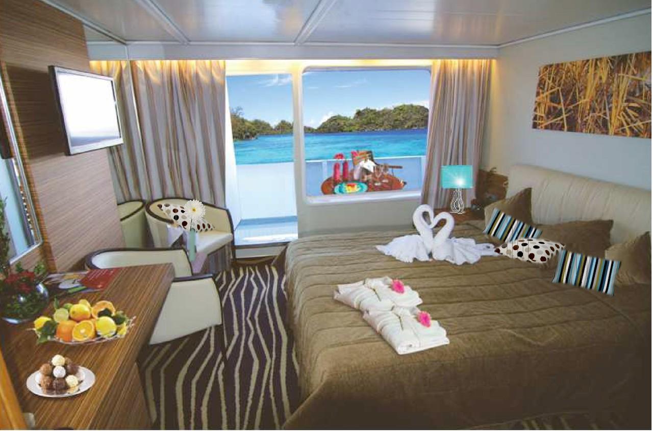 Balkonkabinen der MS Ocean Majesty  Kabinenaustattung & Guide