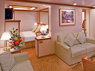 Family-Suite der Caribbean Princess - Kabinenfoto Suite