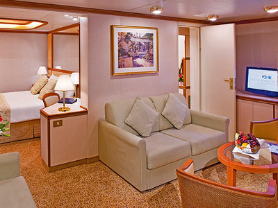 Family-Suite der Crown Princess - Kabinenfoto Suite