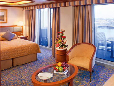 Vista-Suite der Crown Princess