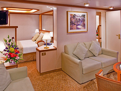 Family-Suite der Emerald Princess - Kabinenfoto Suite
