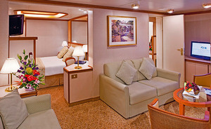 Family-Suite der Grand Princess - Kabinenfoto Suite