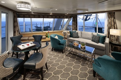 Aqua Theater Suite der Harmony of the Seas - Kabinenfoto Suite