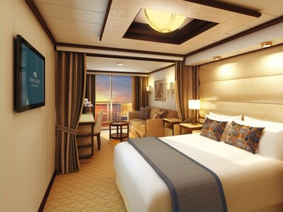 Mini Suite Balkon der Majestic Princess - Kabinenfoto Suite