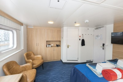 Mini-Suite der MS Polarlys - Kabinenfoto Suite