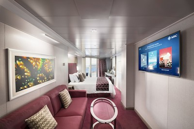 Suite Seaside mit Whirlpool der MSC Seaside
