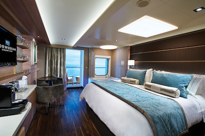The Haven Deluxe Spa Suite mit Balkon der Norwegian Epic