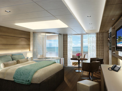 The Haven Spa Suite mit Balkon der Norwegian Escape