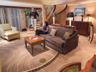 Duplex Appartm./Queen Mary & Queen Elizabeth Suite der Queen Mary 2 - Kabinenfoto Suite