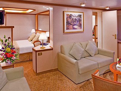 Familien-Suite der Ruby Princess - Kabinenfoto Suite