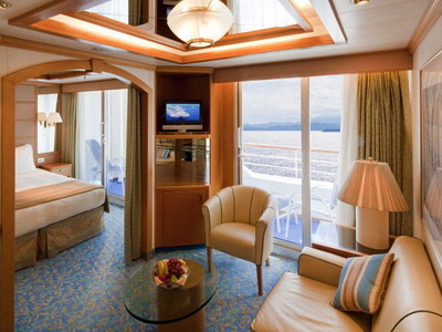Mini-Suite der Sea Princess - Kabinenfoto Suite