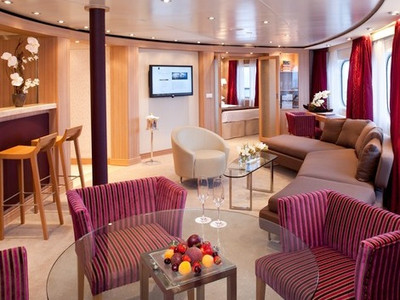 Owner Suite der Seabourn Quest - Kabinenfoto Suite