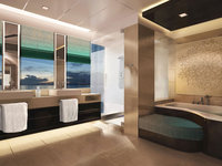 Norwegian Breakaway - The Haven Deluxe Owner's Suite mit großem Balkon, Badezimmer