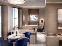 Ritz-Carlton Yacht - The Signature Suite Wohn- und Esszimmer