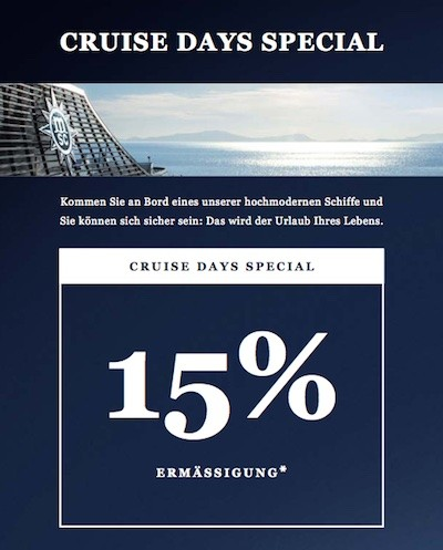 MSC Cruise Days Special
